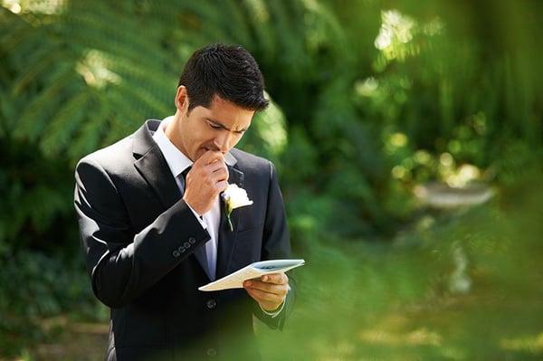 Dealing with wedding speech nerves